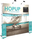 Custom Hopup 8ft Tension Fabric Backwall and Accessory Kit 01