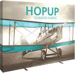 Custom Hopup 10ft Straight Display & Tension Fabric Graphic