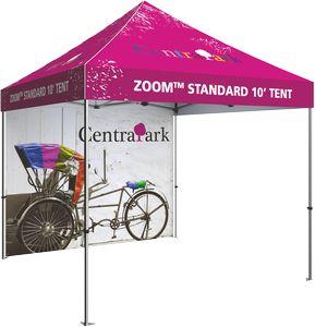 10 Zoom Outdoor Tent Custom Printed Backwall