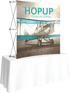 Hopup 5.5ft Curved Tabletop Display & Front Graphic