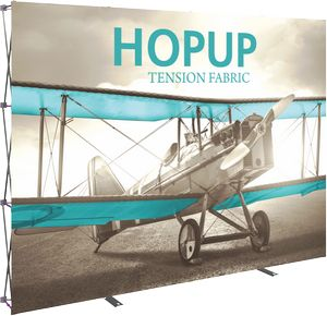 Hopup 10ft. Full Height Straight Display & Front Graphic