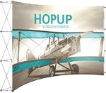 Custom Hopup 13ft Full Height Curved Display & Front Graphic