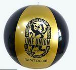 Custom Gold and black beach ball