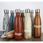Custom 17oz Swell shape wood patterns Cola Bottle Shape Hot and Cold Water Tumbler
