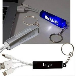 Light-up Your Logo 3-in-1 USB Charging Cable