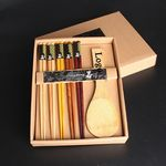 Custom High-Quality Wooden Chopstick And Spoon Set