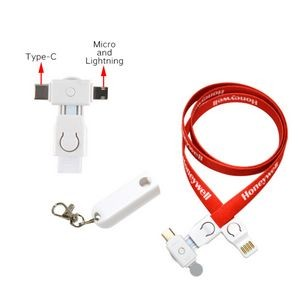 Newest Type-C 3-in-1 Charging Cable Lanyard