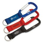 Custom Key Tag Carabiner with Strap and Raised Rubber Patch