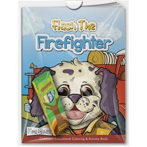 Combo Pack - Fun Mask Coloring Book & 4-Pack of Crayons in a Poly Bag