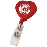 Heart Retractable Badge Holder (Full Color)
