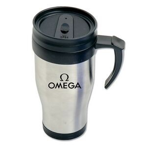 (16 Oz.) Stainless Steel Tumbler with Handle