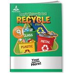 Custom Activity Book w/ Fun Stickers - Don't Throw it Out, Recycle