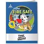 Custom Activity Book w/ Temporary Tattoos - Staying Fire Safe at Home