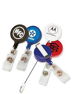 Round Retractable Badge Holder
