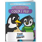 Custom Coloring Book - Cold and Flu Fight Germs with Pengy Penguin