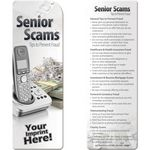 Custom Informative Bookmark - Senior Scams Tips to Prevent Fraud