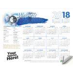 Custom Adhesive Wall Calendar - 2018 Embrace Wellness (Medical)