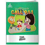 Custom Activity Book w/ Fun Stickers - How & When to Call 9-1-1