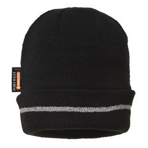 Reflective Trim Knit Hat Thinsulate Lined
