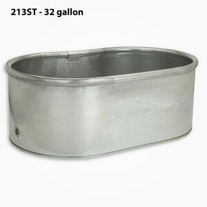 32 Gallon Oval Galvanized Steel Tank