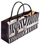 Custom Zebra Bag Horizontal Wine Bottle Bag