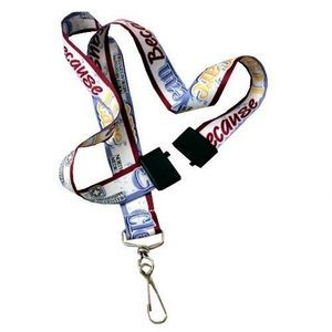 "3/4"" Sublimated Polyester Lanyards w/ Safety Breakaway"