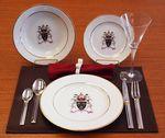 Custom 10.62 Inch 24kt Gold Rimmed Printed Porcelain Plate
