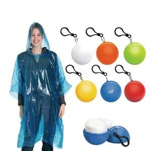Disposable Raincoat Ball Key Chain