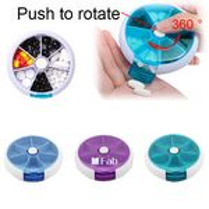 Custom Pill Organizer with 360 Degree Rotation