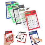 Custom Transparent Solar Touch Screen Calculator