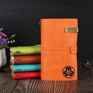 Refillable PU Leather Journal Travelers Notebook