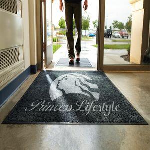 3 X 5 Indoor & Outdoor Rubber Backed Logo Carpet Mat Rugs