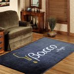 Custom 6' x 12' Custom Indoor & Outdoor Logo floor Rugs Free Artwork/Setup