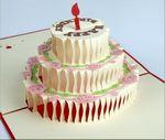 Custom 3D Birthday Cake Greeting Card (bigger birthday cake)