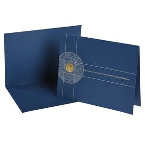 Certificate Holder w/ Die Cut Slit