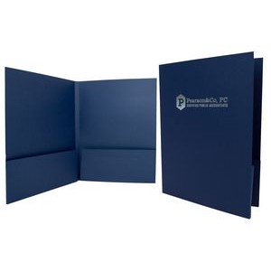 "Capacity Folder w/ Double Box Pocket & 1/2"" Spine (1 Color/1 Side)"