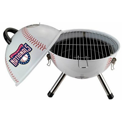 Unique Baseball Shaped Charcoal Grills