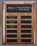 Custom Walnut Perpetual Plaque - 12 Plates