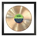 Custom Personalized Gold Framed Records