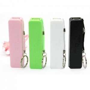 Plastic USB Power Bank w/ Cord & Split Ring