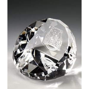 Standing Faceted Dome Paperweight