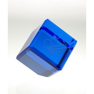 Blue Crystal Standing Cube