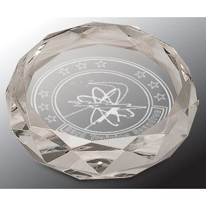 Faceted Round Crystal Paper Weight