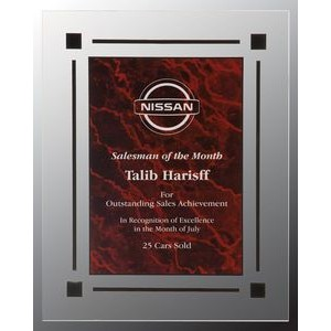 Red Marble Acrylic Plaque