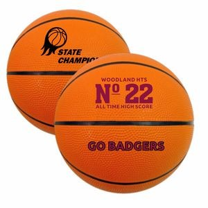 "7"" Mini Rubber Basketball"