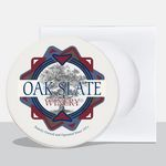 Custom Absorbent Stone Coasters (Single Pack)