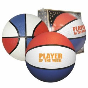 "29½"" Full-Size Rubber Basketball (Red/White/Blue)"