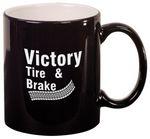 Custom 11oz Black Ceramic Coffee Mug