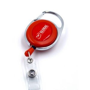 Economy Oval Carabiner Badge Reel