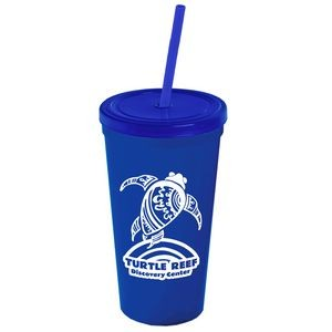 24 oz. Stadium Cup with Straw and Lid